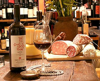 Salumi - Salumi from Italy served with red wine