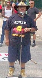 Sam Watson Addresses Invasion Day Rally, Jan 26 2007, Brisbane, Queensland, Australia