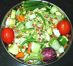 Sambar (dish) - Typical ingredients in a sambar dish