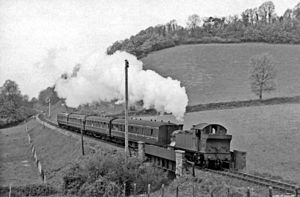 West Somerset Railway - A train near Williton in 1960