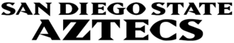 San Diego State Aztecs - Image: San Diego State University athletics black wordmark logo
