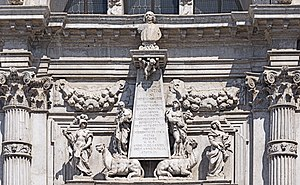 San Moisè, Venice - Image: San Moise (Venice) Cenotafio di Vincenzo Fini (Monument), di Heinrich Meyring