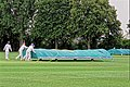 Sandwich Town CC mobile cricket pitch covers at Sandwich, Kent, England 08.jpg