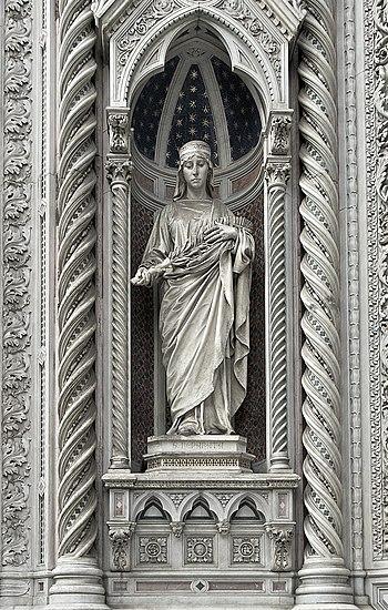 Statue of Saint Reparata, martyr, Patron of Fl...