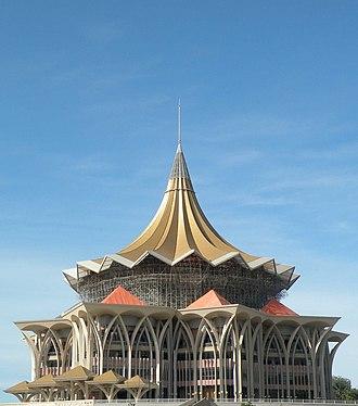 New Sarawak State Legislative Assembly Building - Image: Sarawak state assembly building under construction