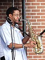 Saxophonist in the Groove - Downtown Memphis - Tennessee - USA - 02 (7201029830).jpg