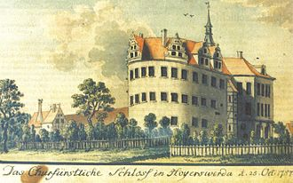 Hoyerswerda - Hoyerswerda Castle in the 18th century