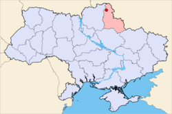 Location of Shostka