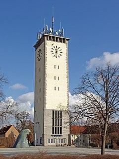 Schwarzheide Place in Brandenburg, Germany