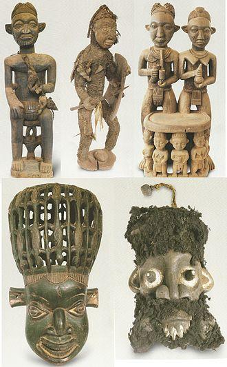 Babungo (village) - Sculptures found in the Babungo Museum