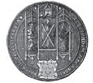Pluscarden Abbey - Seal of Alexander Seton as Prior of Pluscarden