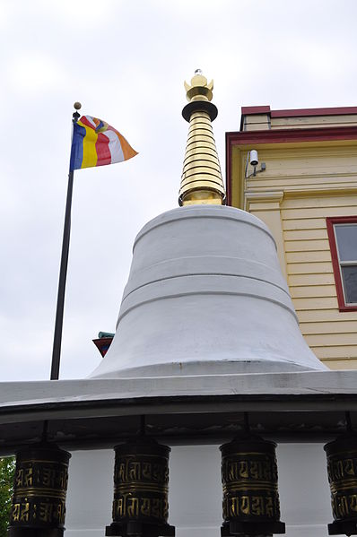 File:Seattle - Sakya monastery stupa and flag 02.jpg