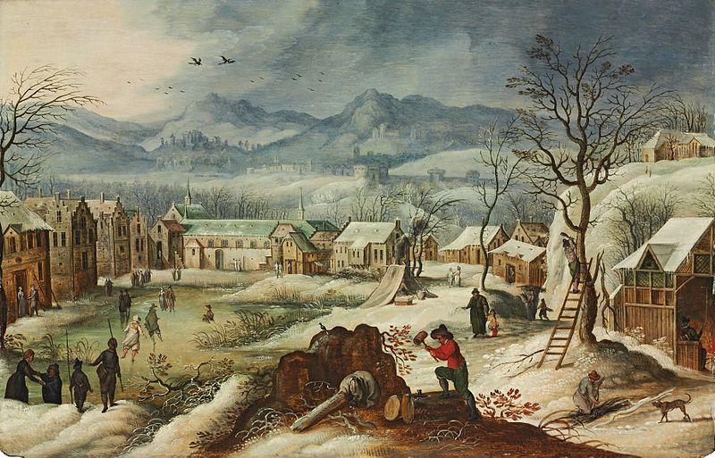 File:Sebastiaan Vrancx (studio) - The winter (one of four seasons paintings).jpg