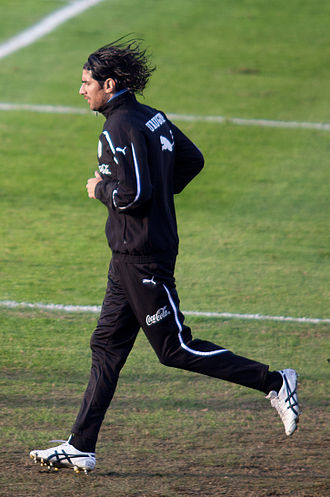 Sebastián Abreu - Abreu training for Uruguay in 2011