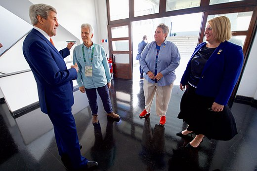 Secretary Kerry Meets Olympic Gold Medalist Mark Spitz, White House Visitors Office Director Schafer, White House Deputy Communications Director Allen in Rio de Janeiro (28172683943).jpg