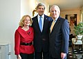 Secretary Kerry With Ambassador Daalder and Mrs. Harris (8677780619).jpg