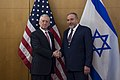 Secretary of Defense Jim Mattis conducts a bilateral meeting with Israeli Minister of Defense Avigdor Lieberman before attending the Munich Security Conference in Munich, Germany, Feb. 17, 2017 (32803710252).jpg