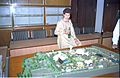 Selja Inspecting Science City Model - Science City Site Office - Calcutta 1994-02-17 174.JPG