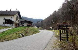 Selo pri Pancah settlement in central Slovenia