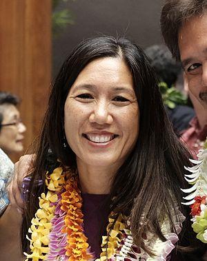 Maile Shimabukuro - Sen. Shimabukuro on 12 January 2015, opening day of the Hawaii State Legislature.