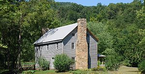 English: Sites Homestead at Seneca Rocks in Mo...
