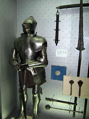 Medieval Serbian army -  Serbian 15th-century armor, on display in Military Museum, Belgrade