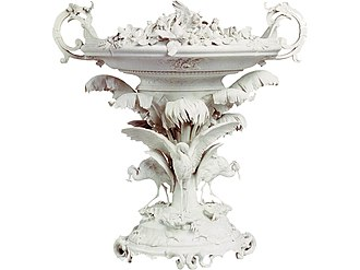 Limoges porcelain - Biscuit porcelain centrepiece for the Exposition Universelle of 1855, Pouyat factory