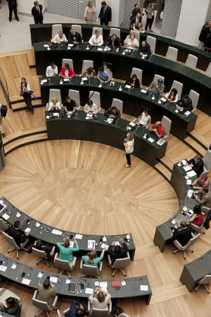 City Council of Madrid - The Plenary room during the 2015 investiture vote.