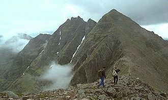 Mountains and hills of Scotland - Sgurr Fiona and the Corrag Bhuidhe pinnacles on An Teallach