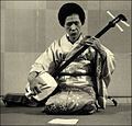 Shamisen player by tambara.jpg