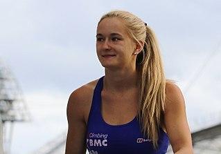 Shauna Coxsey English rock climber