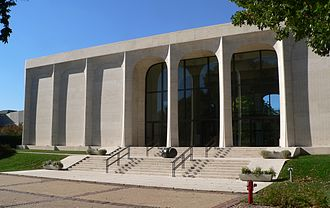 Sheldon Museum of Art - Front (east) entrance