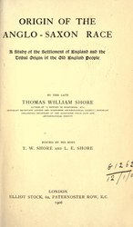 Origin of the Anglo-Saxon Race