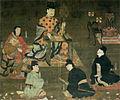 Shotoku Taishi Lecturing Shomankyo (Horyuji).jpg