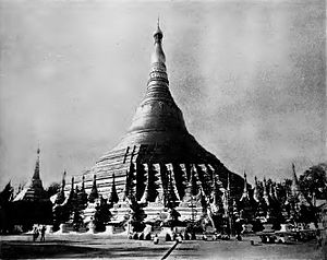 Shwedagon Pagoda - Shwedagon Pagoda in the 1890s