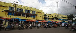 Sibolga - Front view of Sibolga market in Sibolga