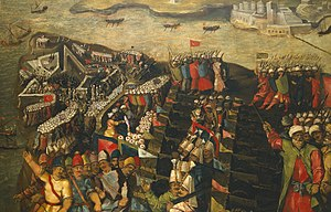 Fort Saint Elmo - The Siege of Malta - Capture of Fort Saint Elmo by Matteo Perez d'Aleccio