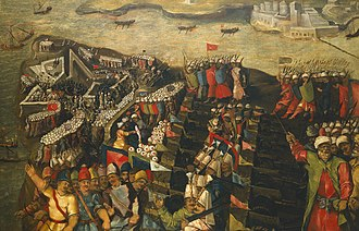 Fort Saint Elmo - The Siege of Malta - Capture of Fort Saint Elmo by Matteo Perez d'Aleccio