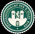 Siegelmarke Bürgermeisteramt der K. Stadt Mies W0318565.jpg