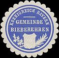 Siegelmarke Gemeinde Bieberehren K. Bayern W0352302.jpg