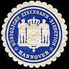 Siegelmarke Königliche Eisenbahn - Direction - Hannover W0229523.jpg