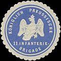 Siegelmarke K. Preussische 11. Infanterie-Brigade W0338231.jpg