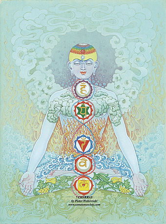 Reiki is one of the alternative therapies commonly found in the New Age movement. Siete chakras.jpg