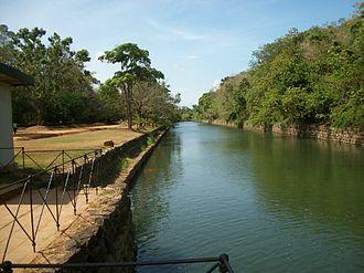 Ancient constructions of Sri Lanka - Sigiriya moat