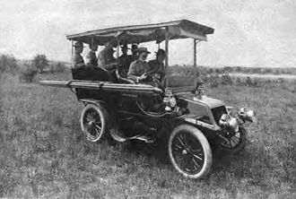 Signal Corps (United States Army) - US Army Signal Corps automobile at the Manassas maneuvers in 1904