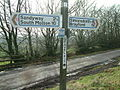 Signpost at Gravel Pit Cross - geograph.org.uk - 679157.jpg
