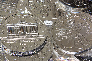 Vienna Philharmonic (coin) - Silver Philharmonic coins