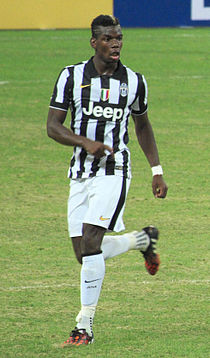 Singapore Selection vs Juventus, 2014, Paul Pogba.jpg