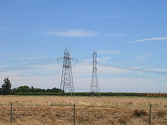 Path 15 - Image: Single circuit PGE 500 k V power line