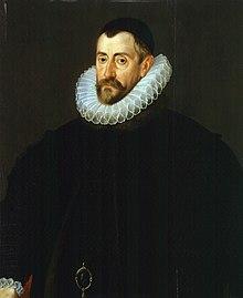 Portrait d'un homme barbu portant une fraise et une ample veste noire